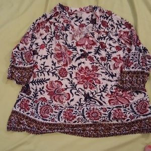 Lucky Brand Fall floral print tunic